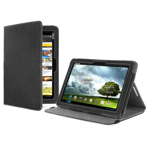 Cover-Up Asus Transformer Pad TF300 / TF300T / TF300TG 10.1 Tablet Version Stand Cover Case - (Black)