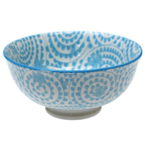 Japanese Style Blossom Bowl Blue Swirls