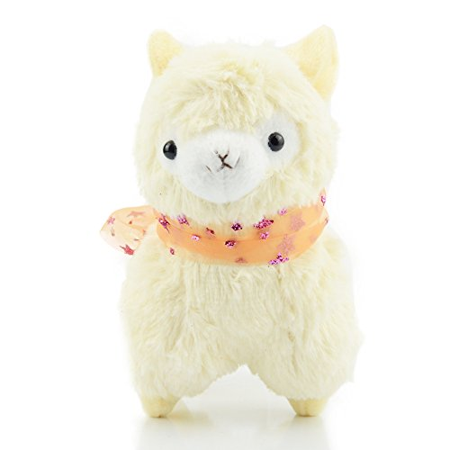 Ztl 7 Kids Cute Alpaca Plush Toy Soft Animal Stuffed Ribbon Doll Yellow