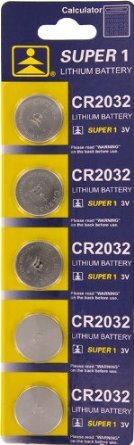SE CR2032 Battery, Package of 5