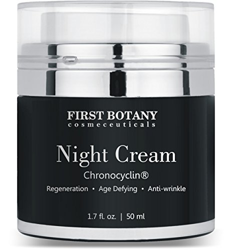 Advanced Night Repair Cream and Best Retinol Moisturizer 1.7 fl. oz. with Chronocyclin®, Retinol & Echinacea Stem Cells - An Anti Aging Treatment and Daily Moisturizer Cream for Men and Women