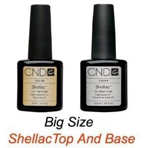 CND Shellac Top .5oz and Base .42oz Set of 2 Big Size
