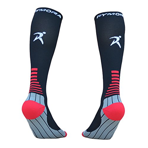 Compression Socks (Cushioned, Graduated Compression, Unisex for Men and Women) by Rymora Sports