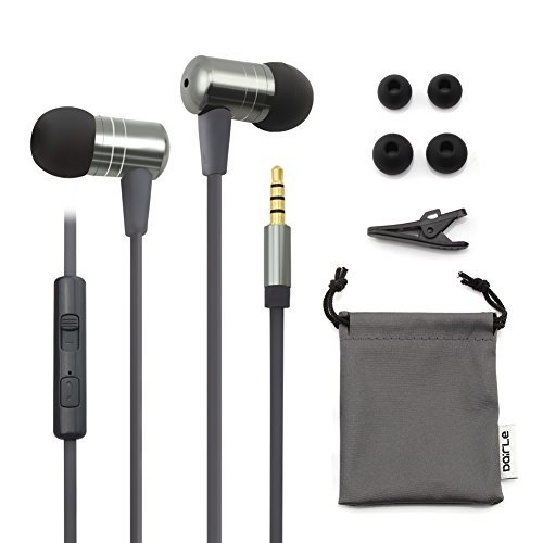 Dairle M65 Flat Cable Bass Sound in Ear Earbuds Headphones with MIC and Volume Control, Metal Shell Headphone work for your iPhone,Samsung,HTC,and many other Android Smartphone