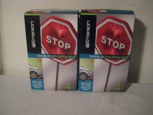 Parking Auto LED Signal Stop Sign for Car Garage - By Emerson (2 Pack)