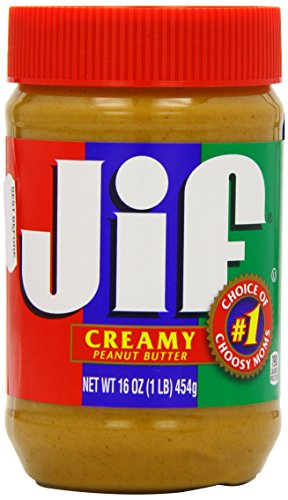 Jif Creamy Peanut Butter, 16 Ounce (Pack of 12)
