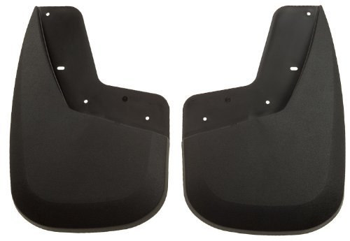 Husky Liners Custom Fit Front Mudguard for Select GMC Models - Pack of 2 (Black)