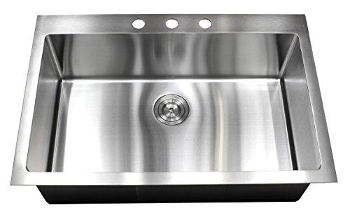 33 x 22 Single Bowl Kitchen Sink