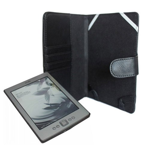 ACE(Trademark) Latest 4rd Generation Kindle 4 E-Book Reader Black Leather Case / Cover