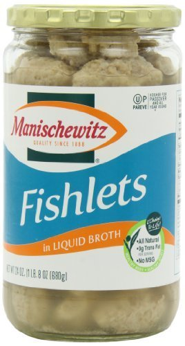 Manischewitz Gefilte Fishlets, 24-Ounce (Pack of 3) Glass