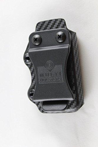 Multi Holsters Elite Single Magazine Holsters (S&W M&P Shield 9mm/40cal, Black Carbon Fiber)