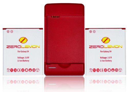 [180 Days Warranty] Zerolemon 3000 Mah Battery X2 + External Travel Charger for Samsung Galaxy S4 Active