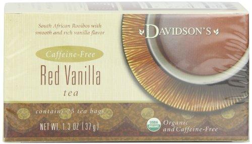 Davidson's Tea Red Vanilla, 25-Count Tea Bags (Pack Of 6)