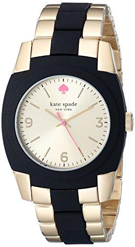 kate spade new york Women's 1YRU0161 Skyline Gold-Plated Stainless Steel Black Watch