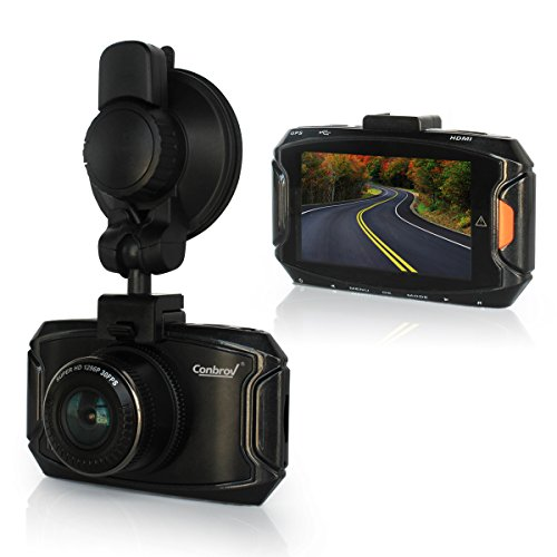 Conbrov® T50 Full HD 1080P Car Camera Dash Cam Dashboard Recorder 2.7 LCD 170° Wide Angle Lens with Super Low Light Performance G-Sensor Motion Detection Parking Monitor Loop Recording Built-in Speaker