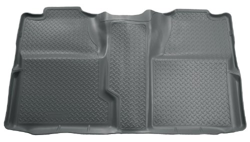 Husky Liners Custom Fit Second Seat Floor Liner for Select Chevrolet Silverado/GMC Sierra Models (Grey)