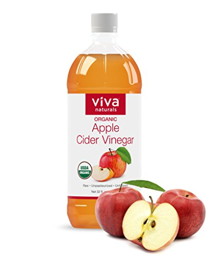 Viva Naturals Organic Apple Cider Vinegar with the Mother, 32 oz - BEST TASTING, Raw, Unfiltered & Undiluted, Non-GMO