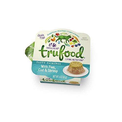 Wellness TruFood Tasty Pairings Grain Free Peas, Cod & Shrimp Natural Raw Wet Cat Food, 3-Ounce Cup