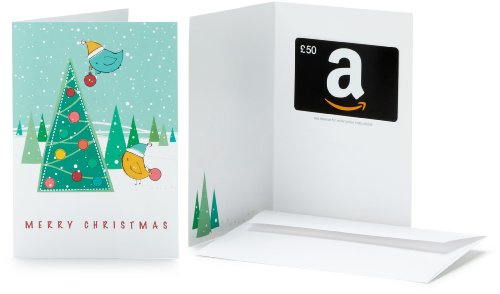 Amazon.co.uk Gift Card - In a Greeting Card - £50 (Christmas Tree)