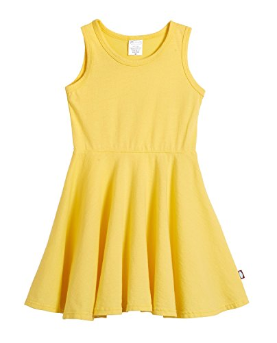 City Threads Little Girls' Cotton Party Twirly Tank Dress, Yellow, Size 4T