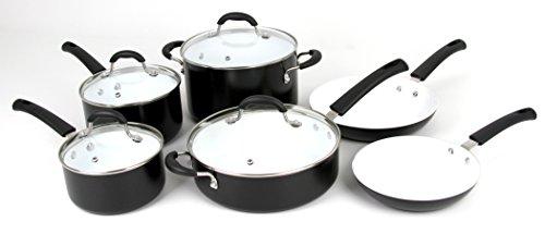 Oneida 10pc Aluminum Non-stick Ceramic Cookware Set