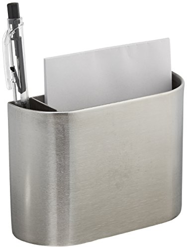 Amco 8451 Stainless Steel Magnetic Pocket Organizer with Note Pad and Pen