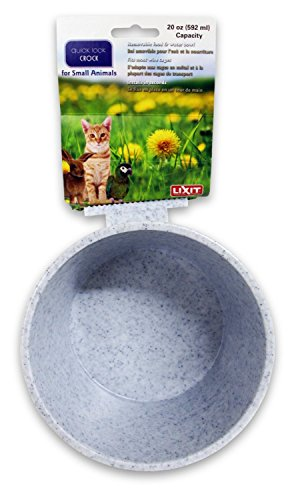 Lixit Corporation BLX0758 Crock for Small Animals, 20-Ounce, Granite