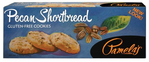 Pamela's Products Gluten Free Shortbread, Pecan, 7.25-Ounce Boxes (Pack of 6)