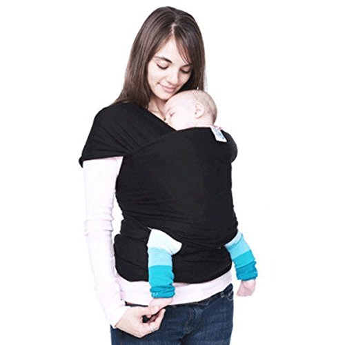 Baby Slings, Anseahawk Baby Carrier Sling Wrap for Newborns - Breastfeeding Sling - Baby Sling up to the age of 3 years, Soft Safe and Comfortable (Black)