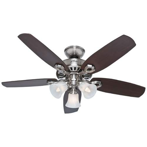 Hunter Fan Company Builder Small Room 42-Inch Ceiling Fan with Five Blades and a Light Kit