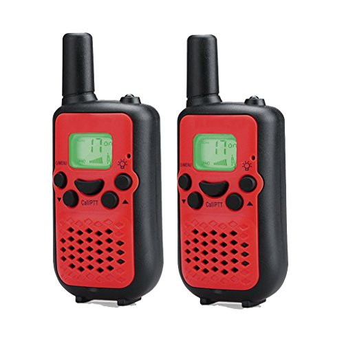 Kids Walkie Talkies, 2 Pack of HOTOR Durable 22 Channel UHF Handheld Walkie Talkies for Kids, 3.7 Miles Rang(Red)