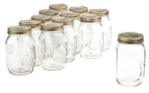 Bormioli Rocco Quattro Stagioni 33 3/4 Ounce Canning Jar, Set of 12