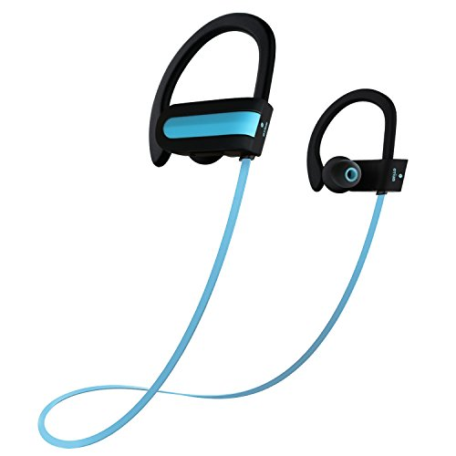 Wireless Headphones, Otium® Bluetooth Wireless Sports Earbuds Sweatproof Stereo Bass Earphones In-ear Headsets with Mic and Noise Cancelling for iPhone Samsung LG Blue