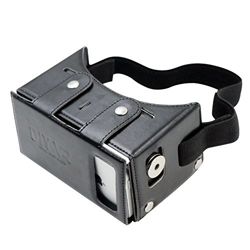Homder Virtual Reality Headset DIY 3D VR Glasses PU Leather Google Cardboard Kit for 3D Movies and Games Compatible with iPhone 6 6s Plus Samsung S7 Edge and Other 4.7-5.5 Smartphones