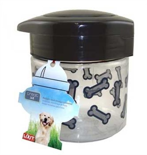 Lixit Dog Treat Plastic Jar, 64-Ounce