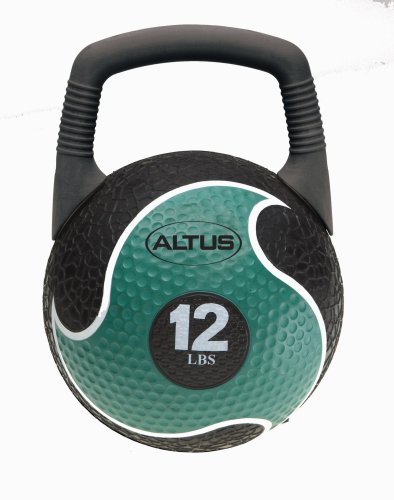Altus Athletic 12-Pound 2-in-1 Power Medicine Ball and Kettlebell with DVD