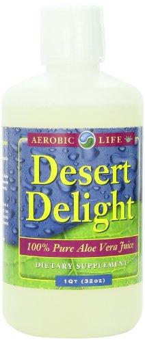 Aerobic Life Desert Delight 100% Pure Aloe Vera Juice Dietary Supplement, 32 Ounce