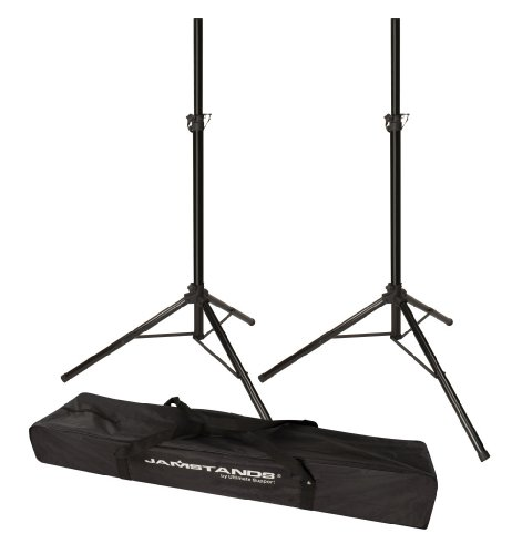 Ultimate Support JS-TS50-2 Tripod Speaker Stand- Pair - Includes a 1-1/2 and 1-3/8 Adaptors to Accommodate Different Types of Speakers- Carrying Bag Included for FREE!