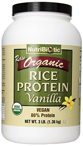 Nutribiotic Organic Rice Protein, Vanilla, 3 Pound