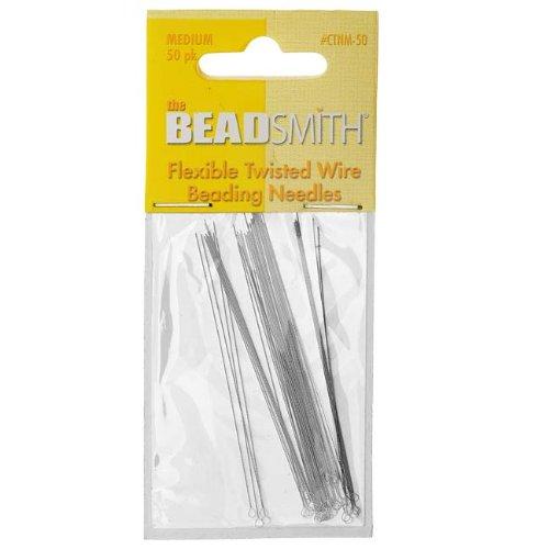 Beading Needles Medium Flexible Twisted (50)