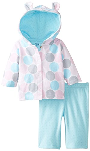 Gerber Baby-Girls' Newborn Hooded Cardigan and Pant Set