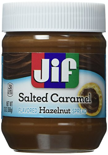 Jifs Hazel Nut Salted Caramel Spread 13 Oz. [Pack of 2]
