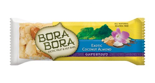 Bora Bora Exotic Coconut Almond Superfood Bar, 1.4-Ounce Bars (Pack of 12)