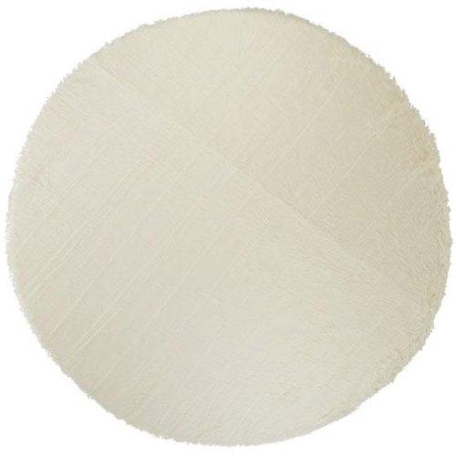 Faux Sheepskin Area Rug, 8' Round, White