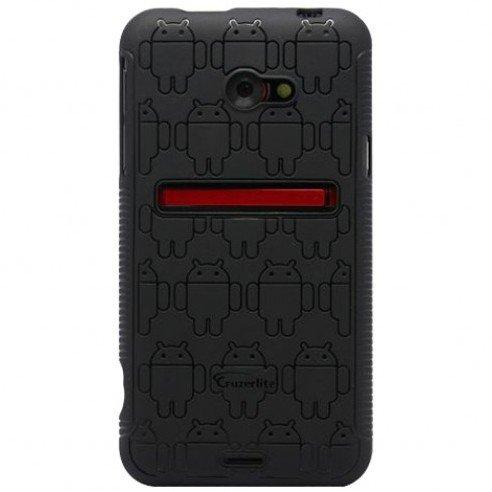 Black Androidified Cruzerlite TPU Case, For HTC EVO 4G LTE