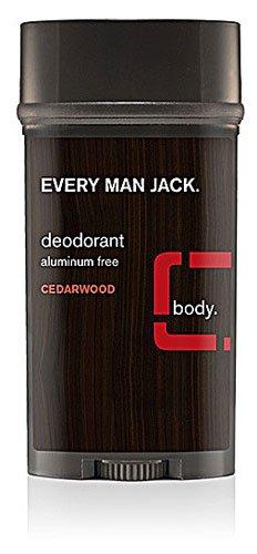 Every Man Jack Deodorant Stick Aluminum Free Cedar Wood -- 3 oz - 2pc