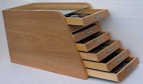 Knife Storage/Display Case Holder Cabinet, with 6 Drawers, KC01-NAT
