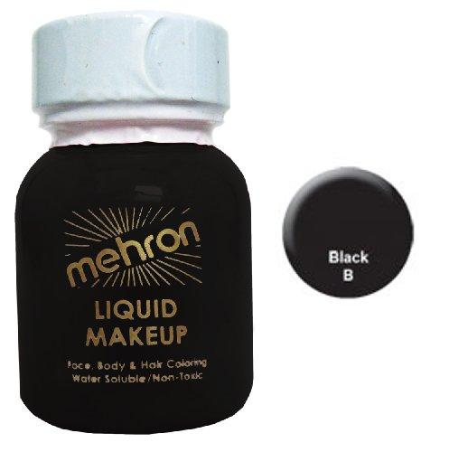 Mehron Liquid Face Paint Makeup - Black (1 oz)