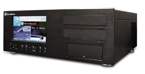 SilverStone LC18B-V64 Aluminum ATX Media Center/HTPC Case - Retail (Black)