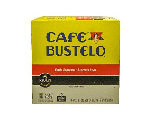 Keurig Cafe Bustelo Coffee Espresso K-Cups Cuban (18 count)